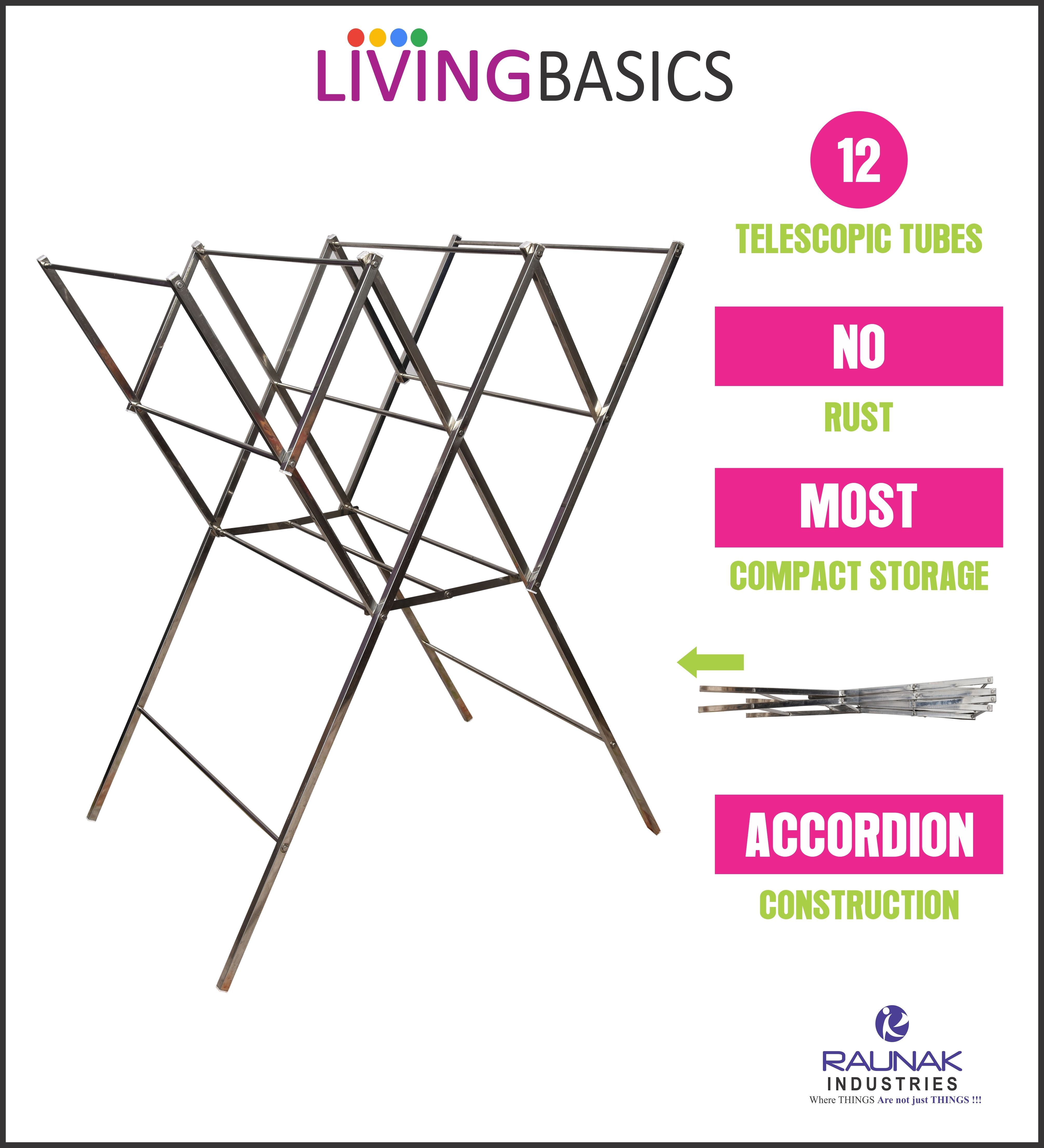 W Model Portable Clothes Stand