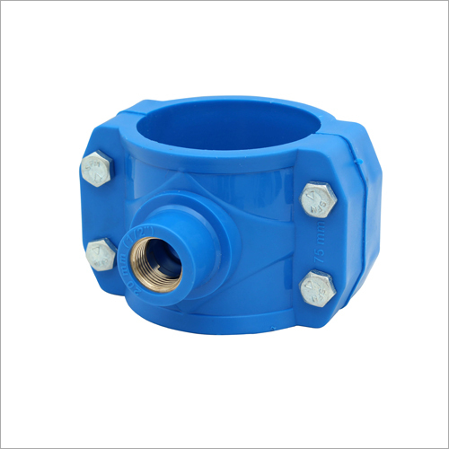 Blue Polypropylene Clamp Saddle