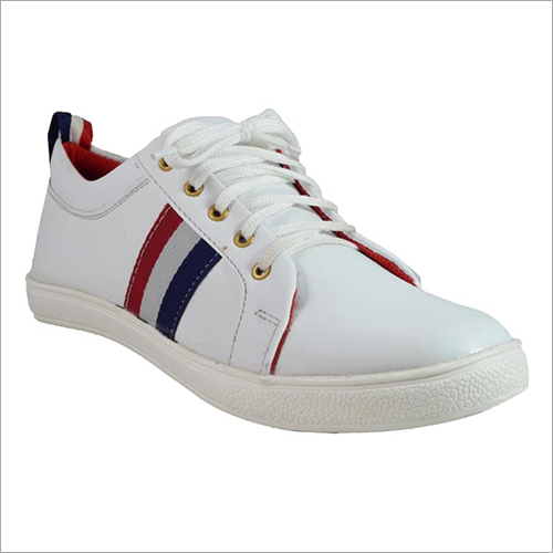 Mens White Canvas Shoes