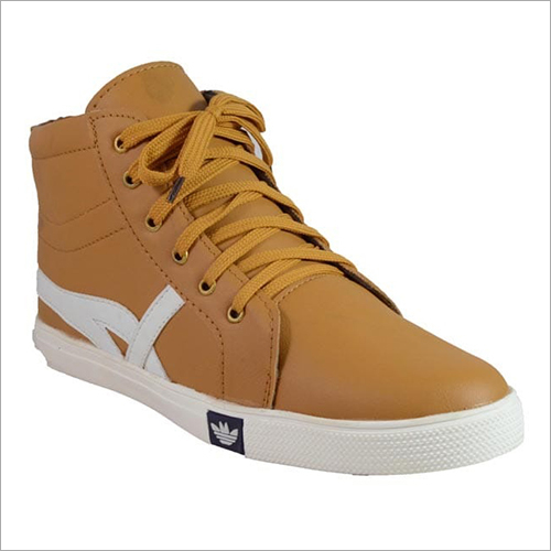 Mens Tan Canvas Shoes
