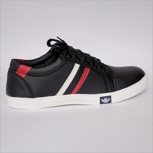 Mens Black Canvas Shoes