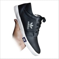 Casual Black Canvas Shoes
