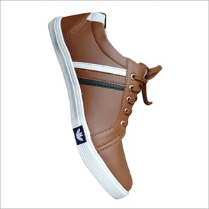Casual Brown Canvas Shoes