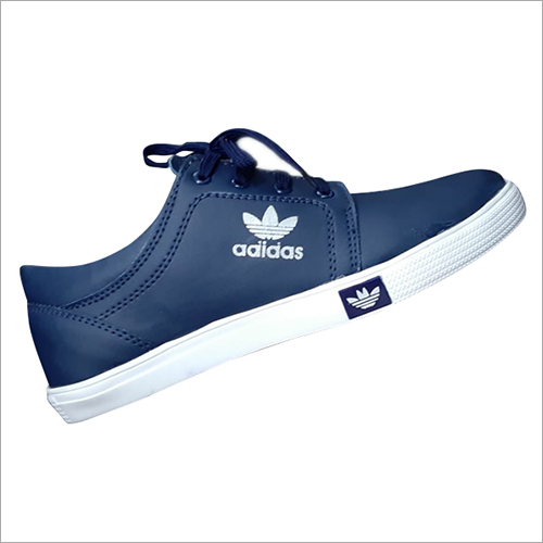 Mens Casual Blue Canvas Shoes