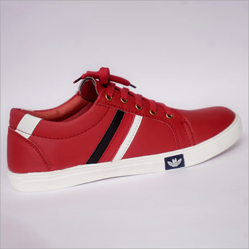 Mens Casual Red Canvas Shoes