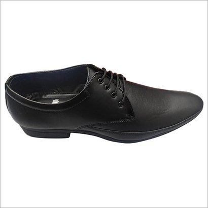 Black Mens  Pu Leather Formal Shoes