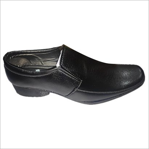 Black Slip On Pu Leather Formal Shoes