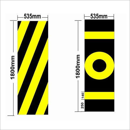 Railway Signal Sighting Zebra Plate Sign Board