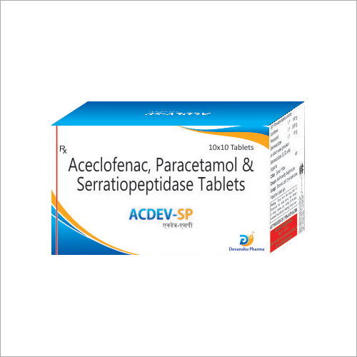 Aceclofenac- Paracetamol And Serratiopeptidase Tablets