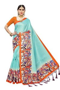Latest Khadi Silk Saree