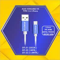 3.5 mm Micro Usb Data Cable TPE Wire