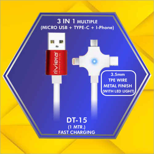 3 in 1 Multiple Data Cable