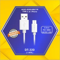 3.5 mm PVC Wire Micro Usb Data Cable