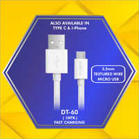 3.5 mm Textured Wire Micro Usb Data Cable