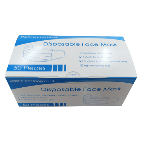50 Pieces Disposable Face Mask