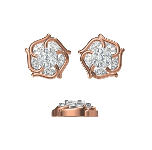 Diamond Earring TCW 0.428 14K gold 4.1 gm