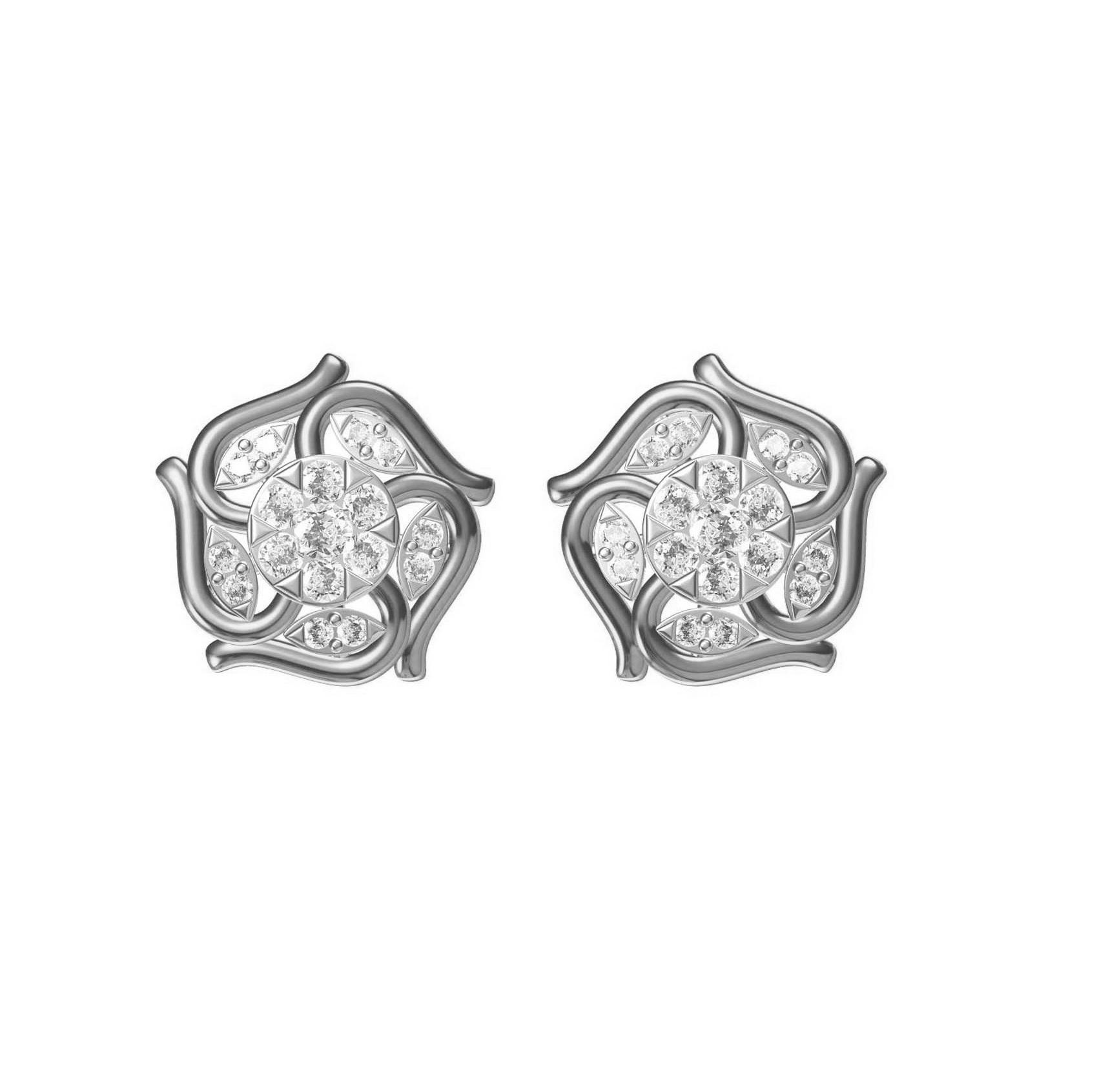 Diamond Earring TCW 0.428 14K gold 4.1 gm