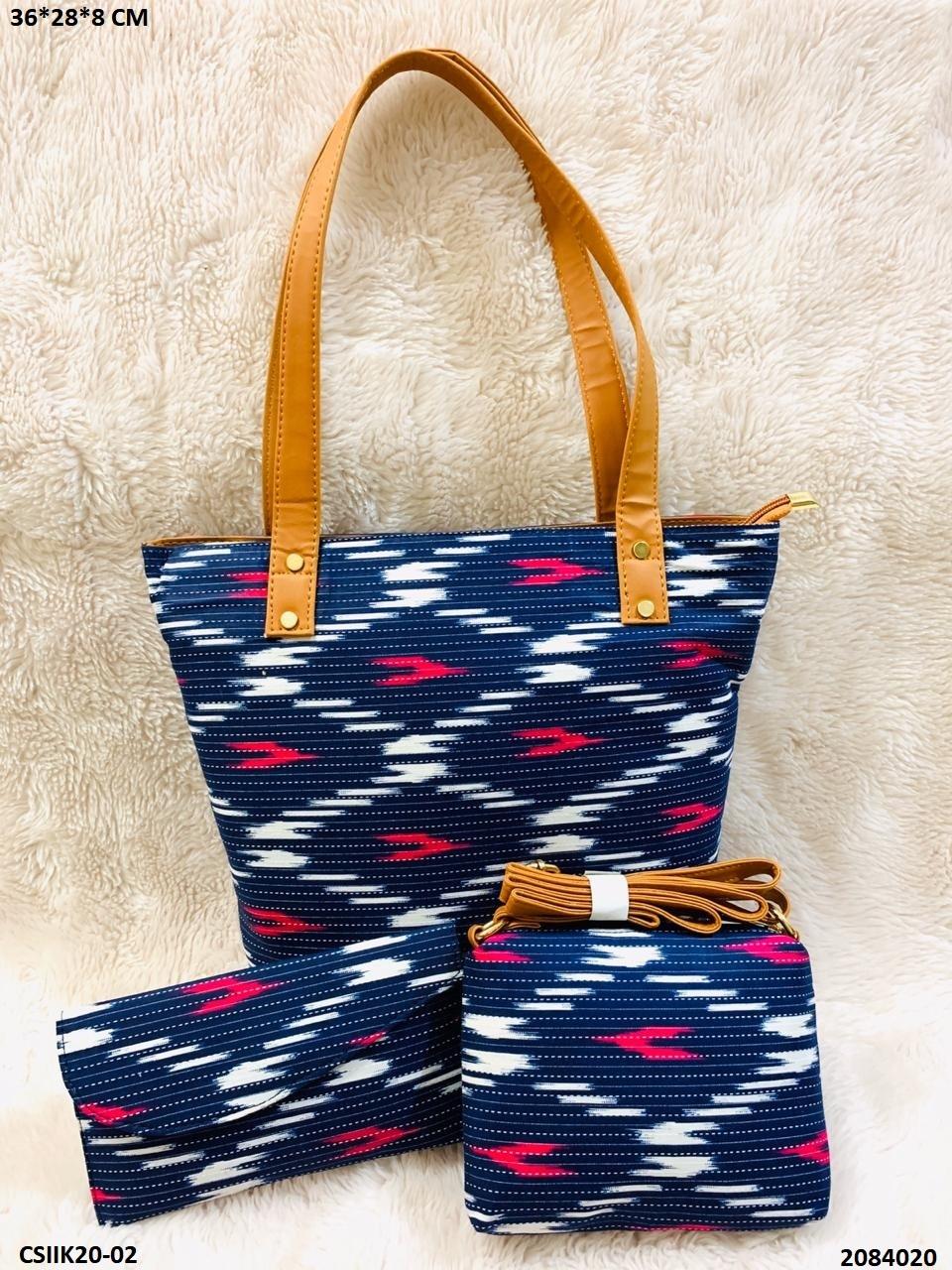 Handmade Printed Ikkat Bags