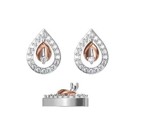 Diamond Earring TCW 0.390 14K gold 2.5 gm