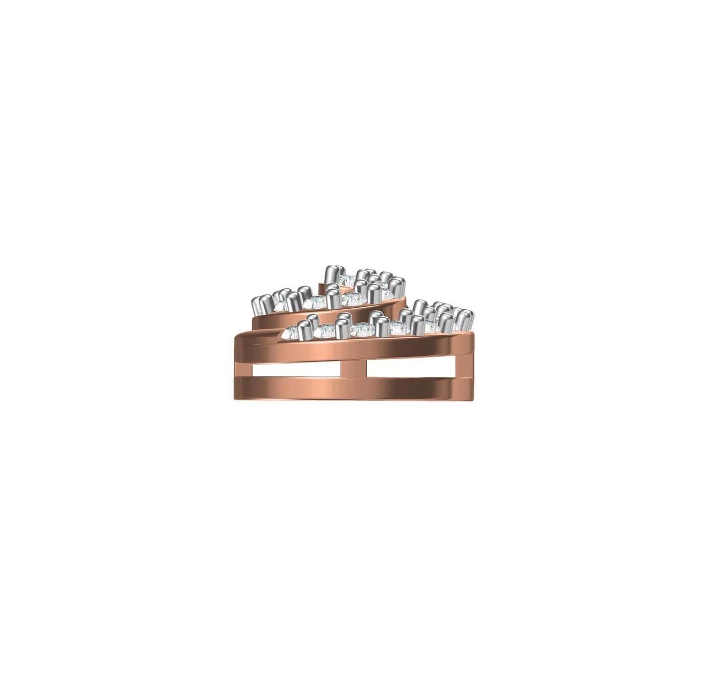 Diamond Ring TCW 0.450 14K gold 2.2 gm