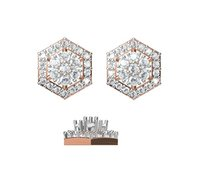Diamond Earring TCW 0.596 14K gold 1.9 gm