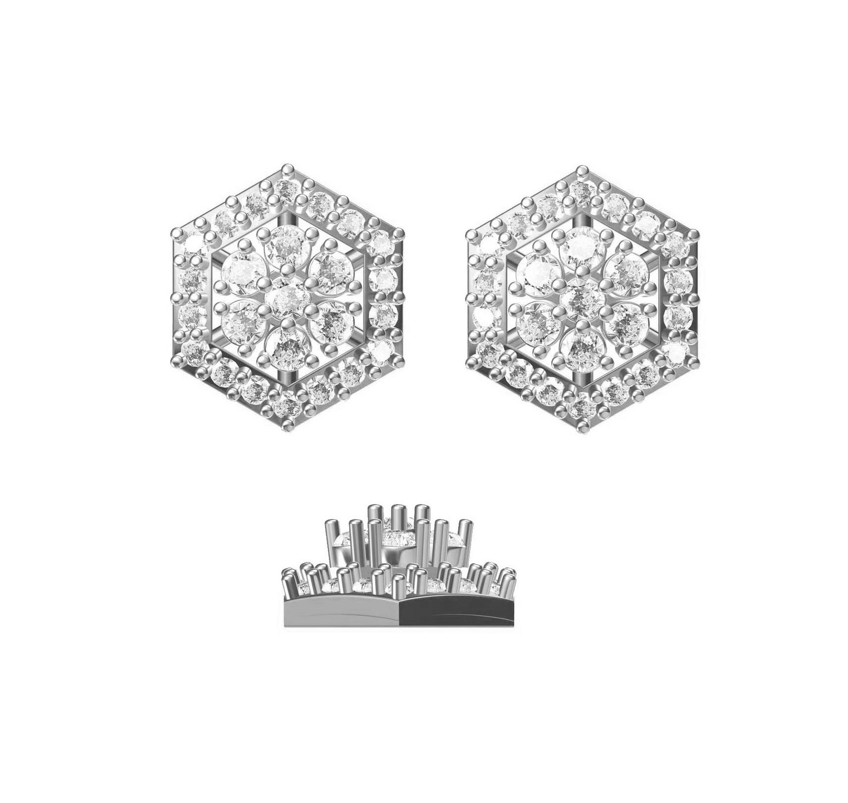 Diamond Earring TCW 0.596 14K gold 1.9 gm