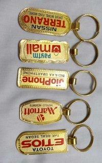 Metal Gold Plating Keychain