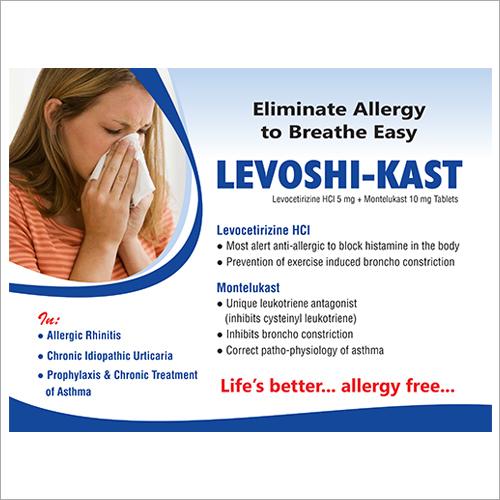 Levocetirizine HCl 5 mg + Montelukast 10 mg Tablets