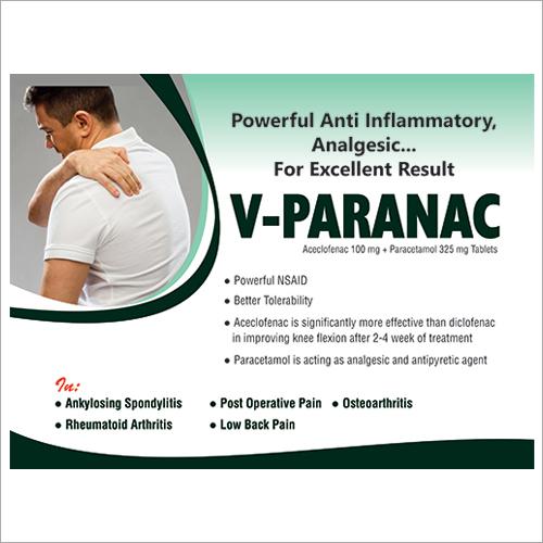 Aceclofenac100 mg + Paracetamol 325 mg Tablets