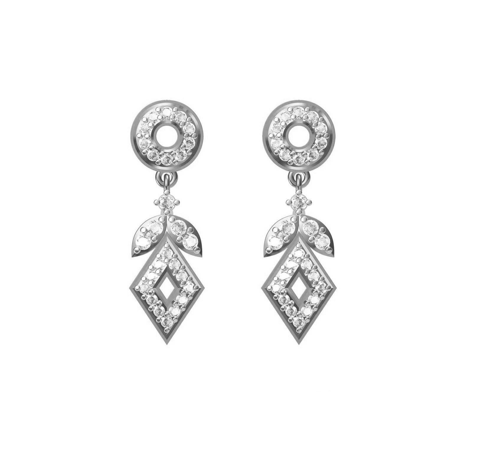 Diamond Earring TCW 0.660 14K gold 3.2 gm