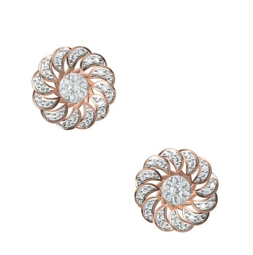 Diamond Earring TCW 0.644 14K gold 4.9 gm