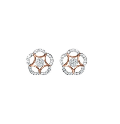 Diamond Earring TCW 1.038 14K gold 4.7 gm