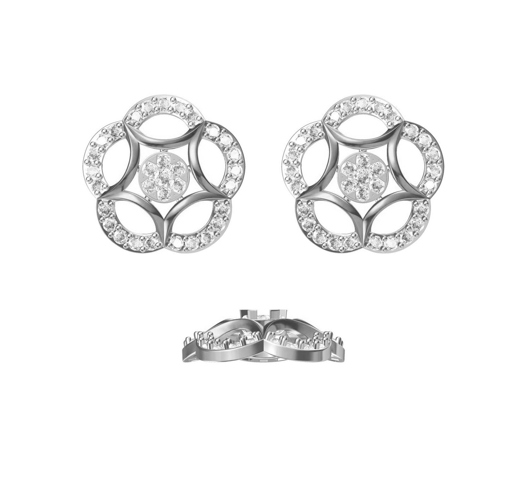 Diamond Earring TCW 1.038 14K gold 4.7 gm