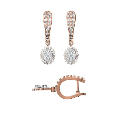 Diamond Earring TCW 1.52 14K gold 3.2 gm