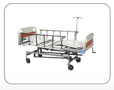 ICU Bed Mechanical With ABS Panel & Safety Rails