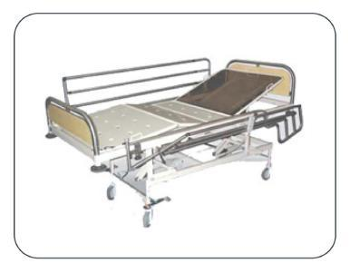 ICU Bed With SS Laminated Panel & Side Rail