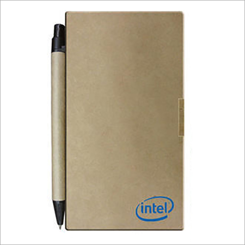 Promotional Eco Sticky Note Pad With Pen