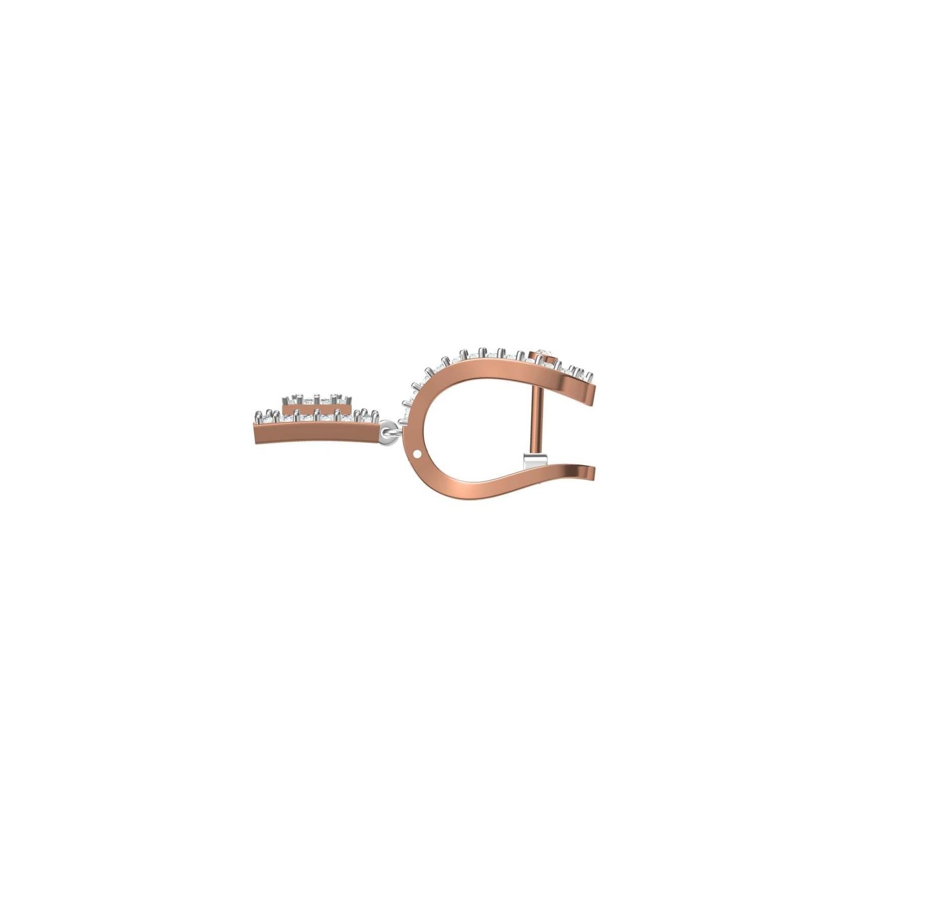 Diamond Earring TCW 1.495ct 14K gold 8.6 gm