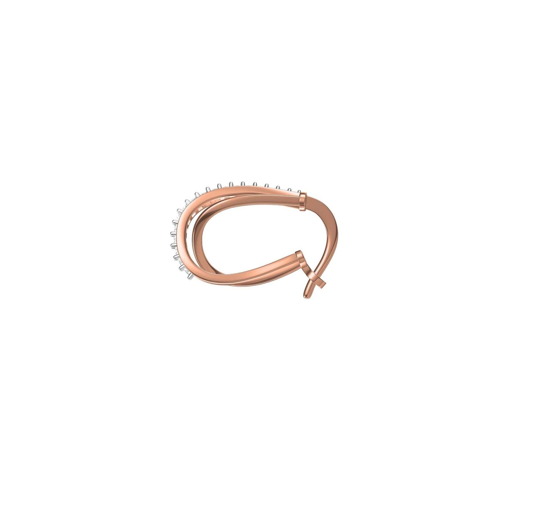Diamond Earring TCW 0.425 14K gold 5.5 gm