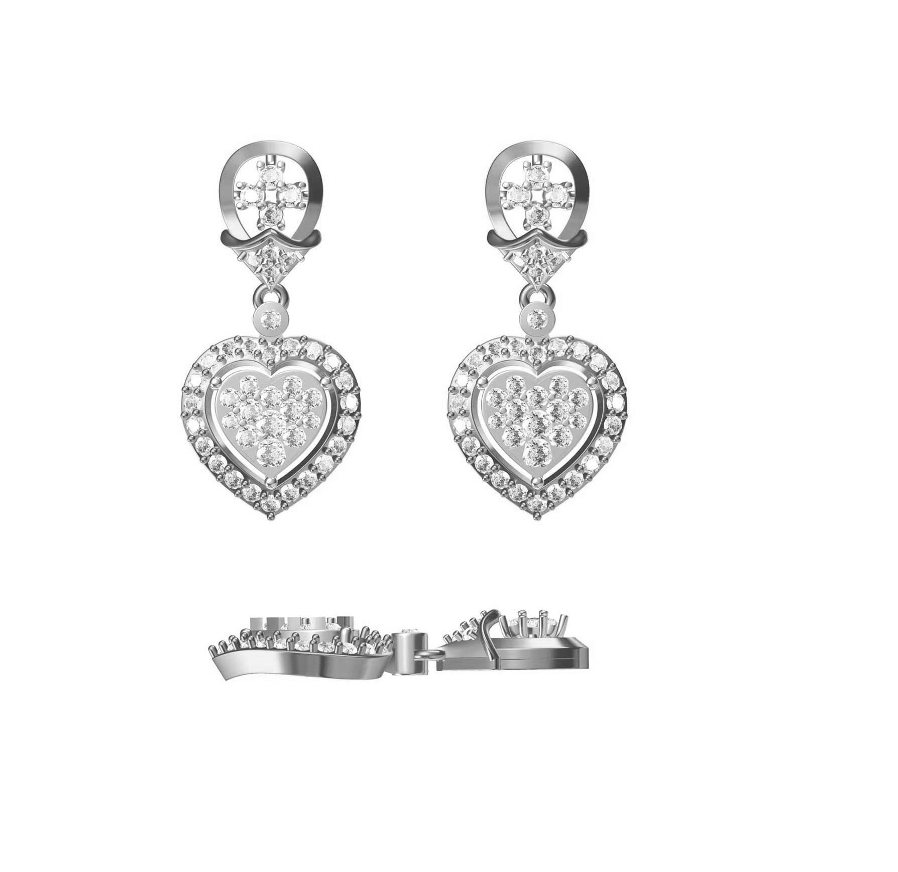 Diamond Earring TCW 1.62 14K gold 6.1 gm
