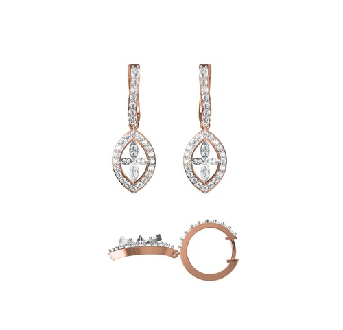 Diamond Earring TCW 1.444 14K gold 7.3 gm