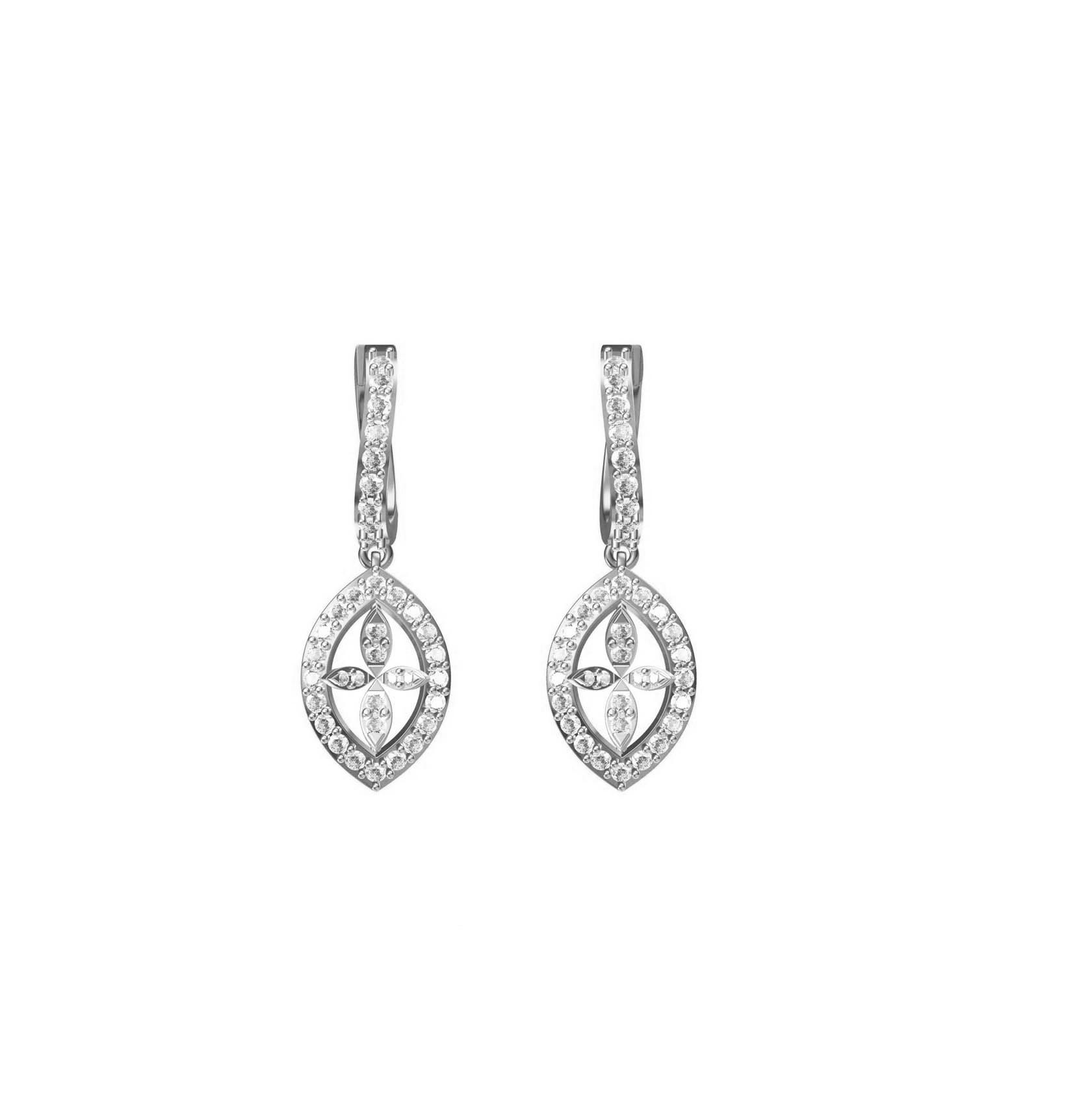 Diamond Earring TCW 1.444 14K gold 7.3 gm