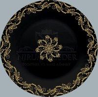 Black-Gold Dinner Plate