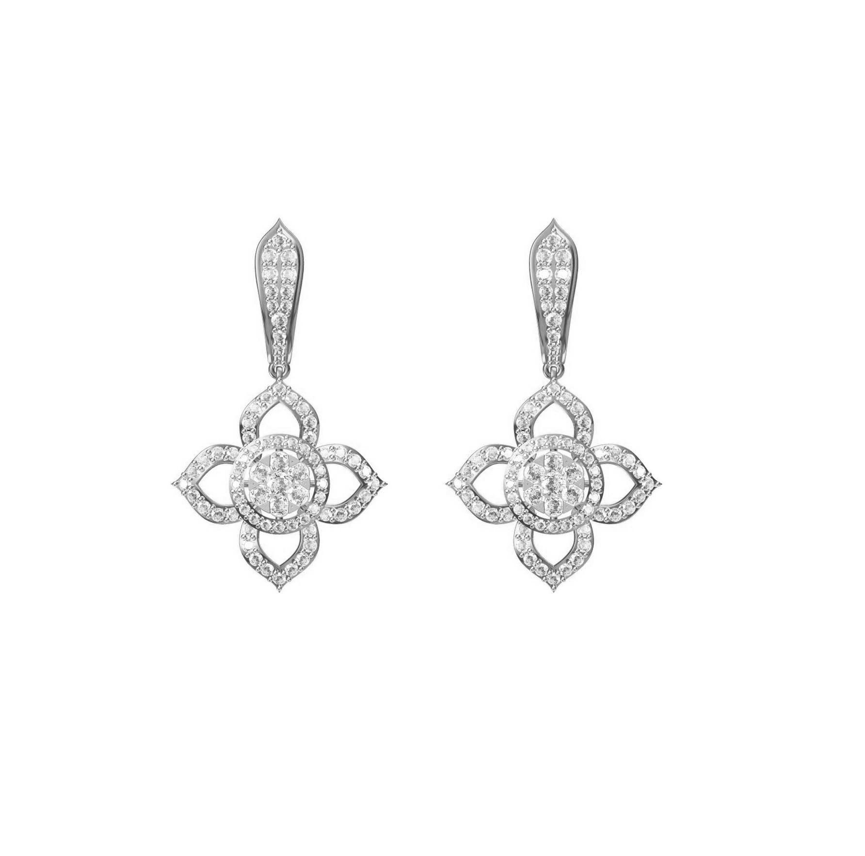 Diamond Earring TCW 2.730ct 14K gold 12 gm