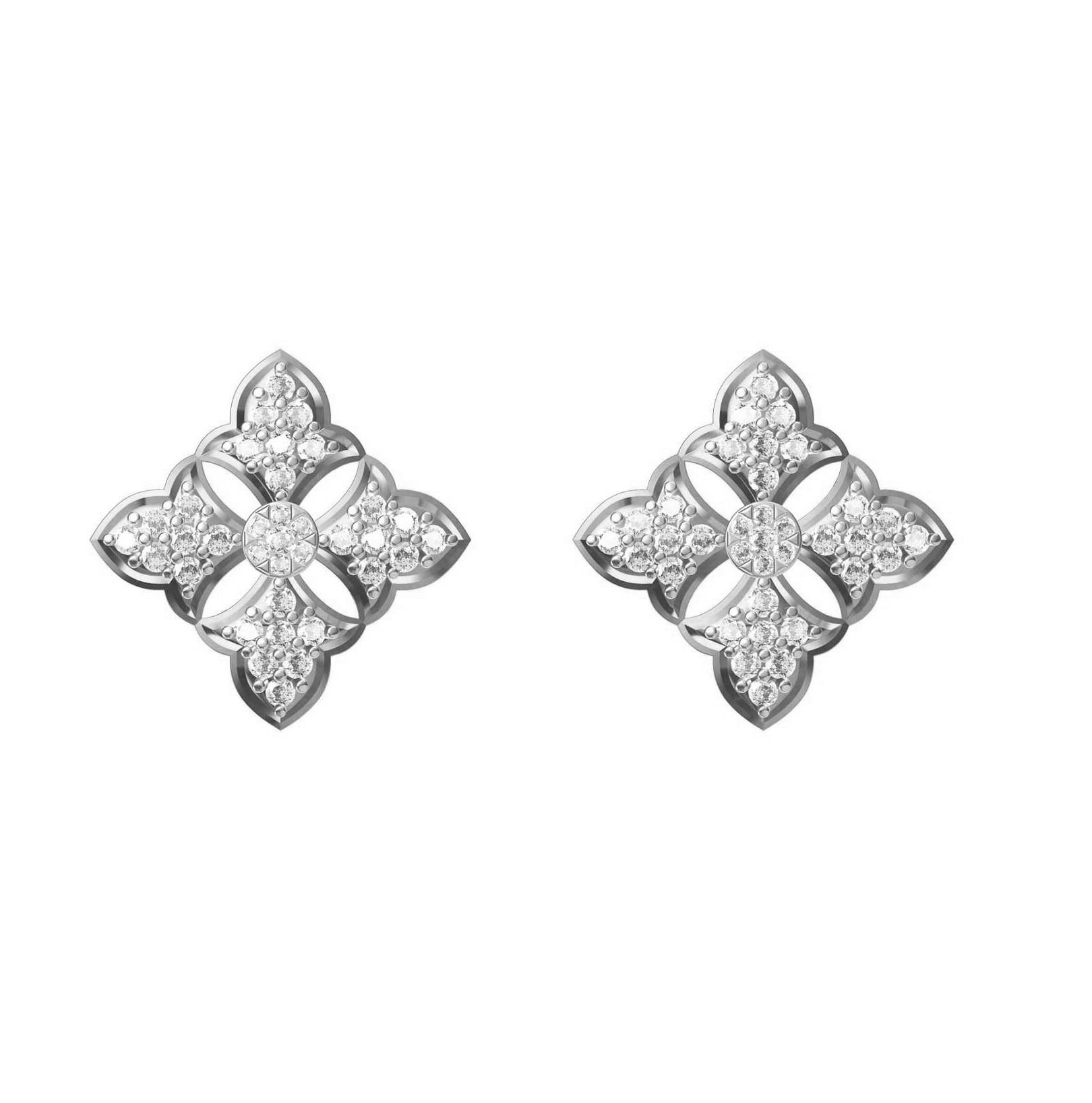 Diamond Earring TCW 0.700ct 14K gold 3.8 gm