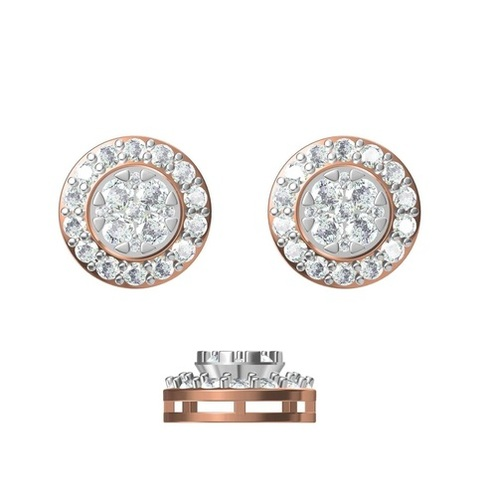 Diamond Earring TCW 1.438 14K gold 3.4 gm