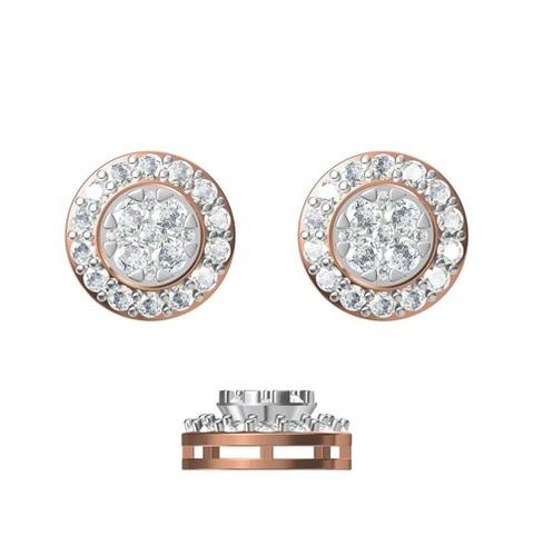 Diamond Earring TCW 1.438 14K gold 3.4 gm