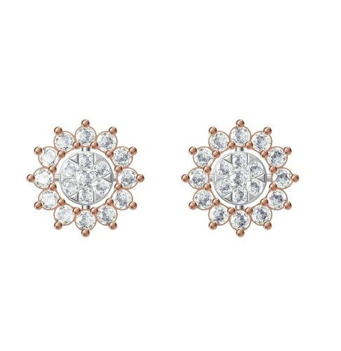 Diamond Earring TCW 0.864 14K gold 2.8 gm