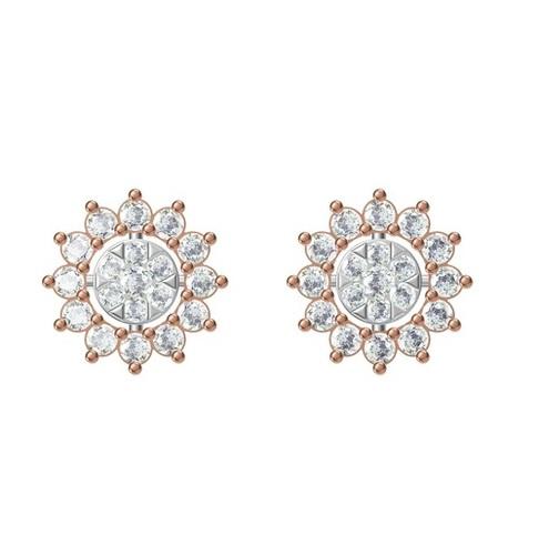 Diamond Earring TCW 0.864 14K gold 2.8 gm