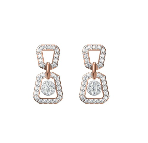 Diamond Earring TCW 0.742 14K gold 4.5 gm